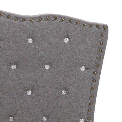 vidaXL Bett mit Matratze Hellgrau Stoff 160 x 200 cm