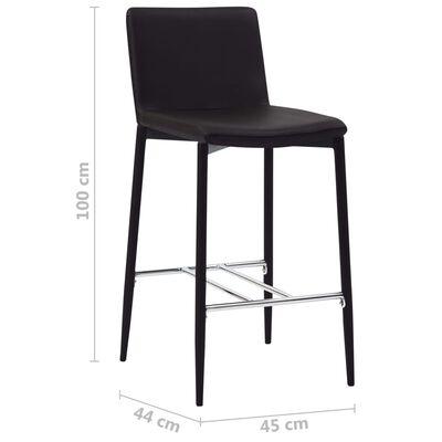 vidaXL Barhocker 6 Stk. Braun Kunstleder
