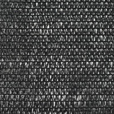 vidaXL Tennisblende HDPE 1,4x50 m Schwarz