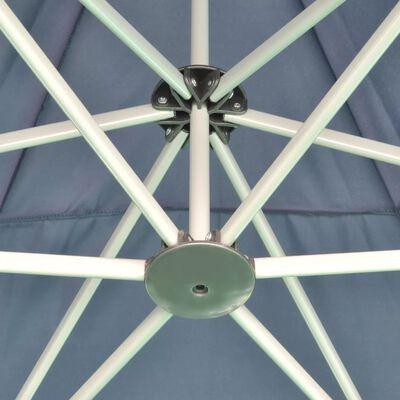 vidaXL Pop-Up-Partyzelt Hexagonal Faltbar Dunkelblau 3,6x3,1 m