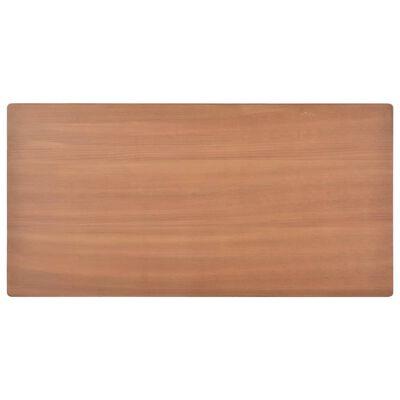 vidaXL Esstisch Braun 120×60×73 cm Massives Sperrholz Stahl