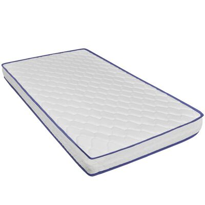 vidaXL Bett LED Memory-Schaum-Matratze Dunkelgrau Sackleinen 180×200cm