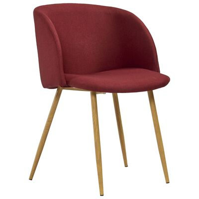 vidaXL Esszimmerstühle 4 Stk. Weinrot Stoff