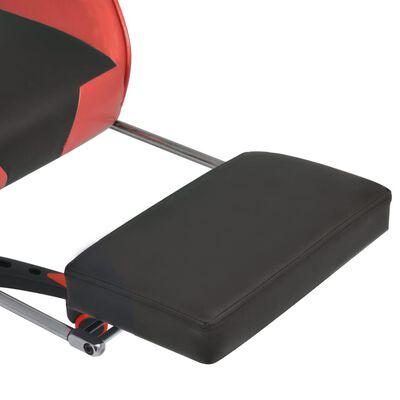 vidaXL Bürostuhl Gaming-Stuhl Neigbar mit Fußstütze Rot
