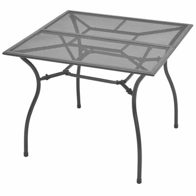 vidaXL Garten-Esstisch Stahlgeflecht 90 x 90 x 72 cm