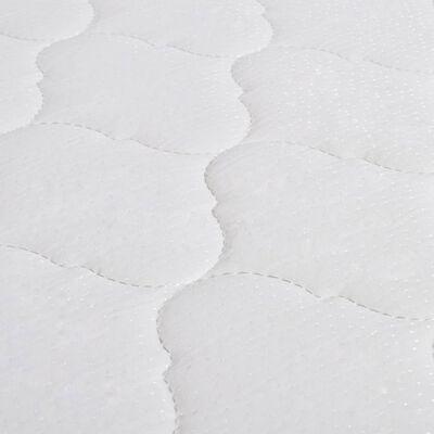 vidaXL Bett mit Memory-Schaum-Matratze Hellgrau Stoff 160×200 cm