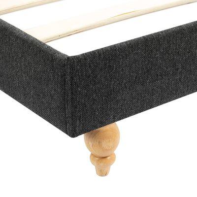 vidaXL Bett mit Matratze Dunkelgrau Sackleinen 90 x 200 cm