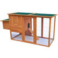 vidaXL Hühnerstall mit 1 Legebox Holz