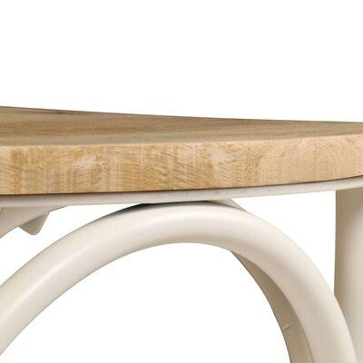 vidaXL Esszimmerstühle 6 Stk. Weiß Mango-Massivholz