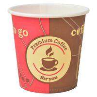 vidaXL 1000 Stk. Einweg-Kaffeebecher Pappe 120 ml (4 oz)
