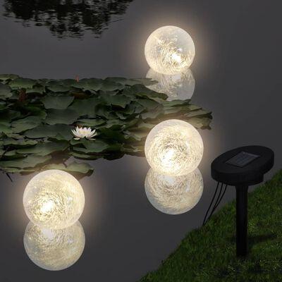 Schwimmleuchte Solarkugeln Schwimmkugeln 3er LED