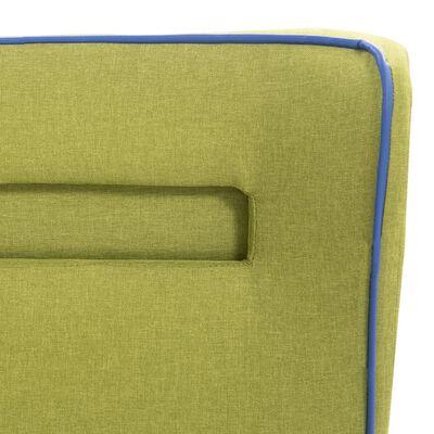 vidaXL Bett mit LED und Matratze Grün Stoff 160×200 cm