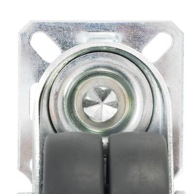 vidaXL 16 Stk. Lenkrollen mit Zwillingsrad 50 mm