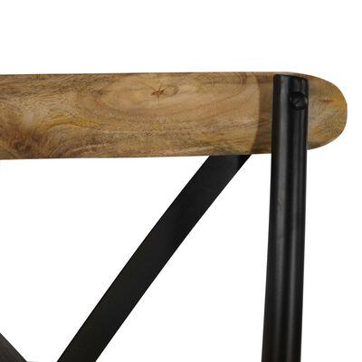 vidaXL Esszimmerstühle 6 Stk. Schwarz Mango-Massivholz