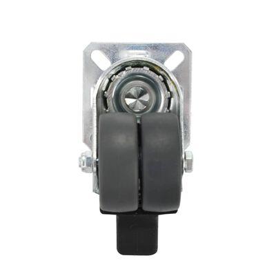 vidaXL 24 Stk. Zwillings-Lenkrollen 50 mm
