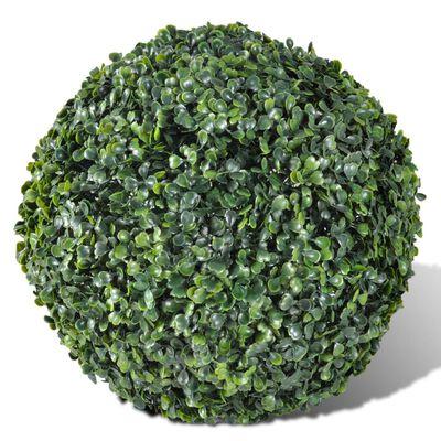 vidaXL Buchsbaumkugeln 2 Stk. Künstlich Formschnitt-Kugel 27 cm