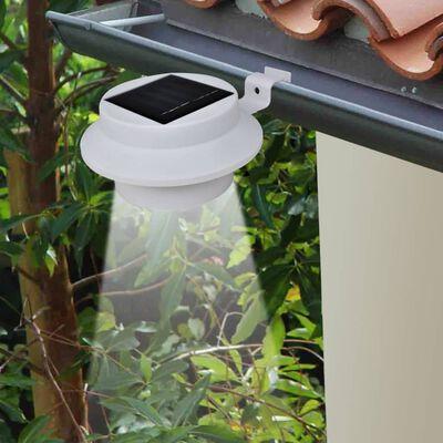 vidaXL Außenleuchte Solar Zaunlichter 12 Stk. LED Weiß