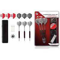 XQmax Darts Gummiertes Dart-Set 27-tlg. 23 g Stahlspitzen QD7000660