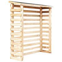 vidaXL Garten-Holzunterstand 160 x 50 x 170 cm Kiefernholz
