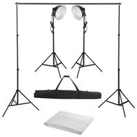 vidaXL Fotostudio-Set mit Studiolampe und Hintergrund