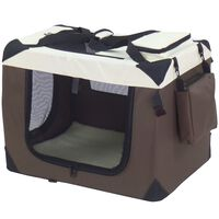 @Pet Hundetransportbox Braun 82x58x58 cm Nylon