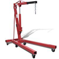vidaXL Werkstattkran 2 Tonnen Klappbar 88,2 kg