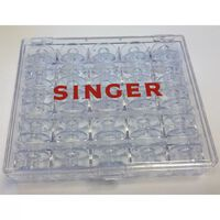 Singer Spulenbox mit 25 Leerspulen