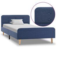 vidaXL Bettgestell Blau Stoff 90x200 cm