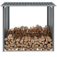 vidaXL Brennholzlager Verzinkter Stahl 172 x 91 x 154 cm Grau