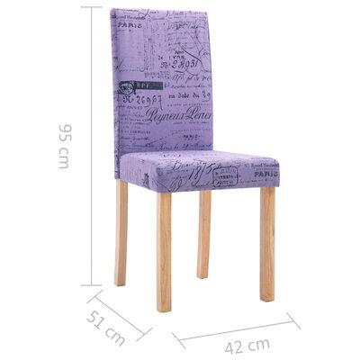 vidaXL Esszimmerstühle 6 Stk. Stoff Lila