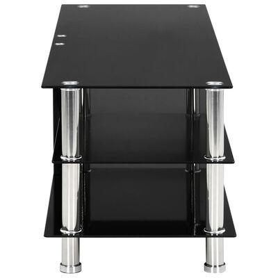 vidaXL TV-Tisch Schwarz 120 x 40 x 40 cm Gehärtetes Glas