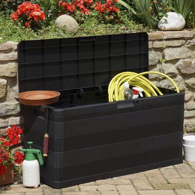 vidaXL Gartenbox Schwarz 117×45×56 cm
