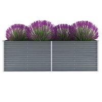 vidaXL Gartenpflanzen Verzinkter Stahl 240x80x77 cm Grau