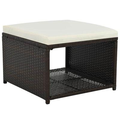 vidaXL 4-tlg. Garten-Lounge-Set Poly Rattan Braun