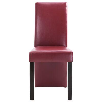 vidaXL Esszimmerstühle 6 Stk. Weinrot Kunstleder