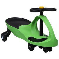 vidaXL Kinderfahrzeug Wackel-Auto Swing-Auto mit Hupe Grün