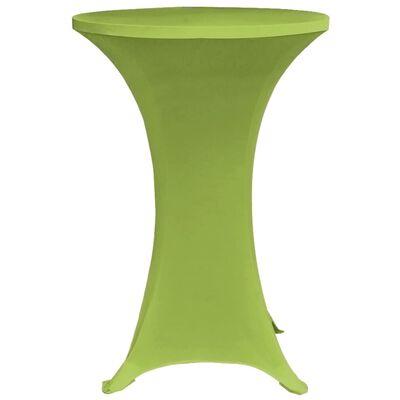 vidaXL مفرش طاولة مطاطي 4 قطع 70 سم أخضر