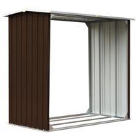 vidaXL Brennholzlager Verzinkter Stahl 172x91x154 cm Braun