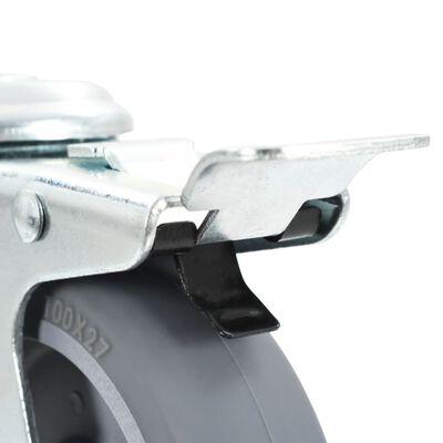 vidaXL 32 Stk. Lenkrollen mit Rückenloch 100 mm