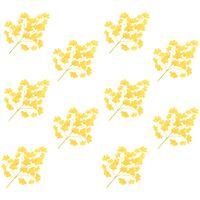 vidaXL Künstliche Blätter Ginko 10 Stk. Gelb 65 cm