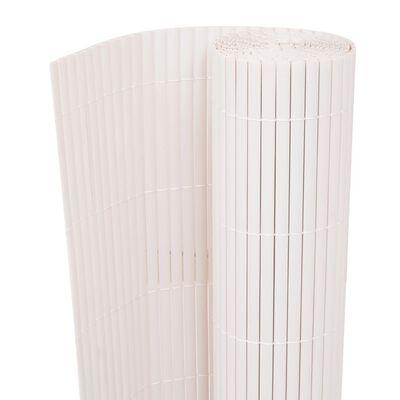 vidaXL Gartenzaun Doppelseitig 150×500 cm Weiß