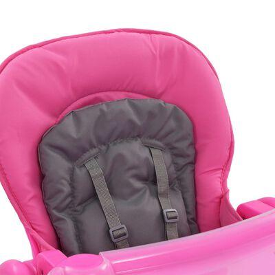 vidaXL Baby-Hochstuhl Rosa und Grau