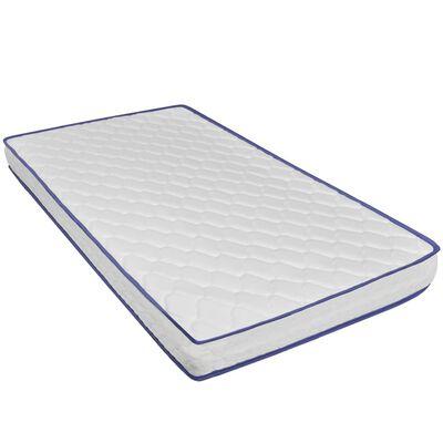 vidaXL Bett LED Memory-Schaum-Matratze Dunkelgrau Sackleinen 120x200cm
