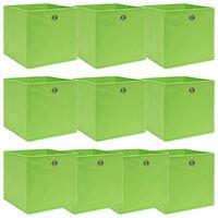 vidaXL Aufbewahrungsboxen 10 Stk. Grün 32×32×32 cm Stoff