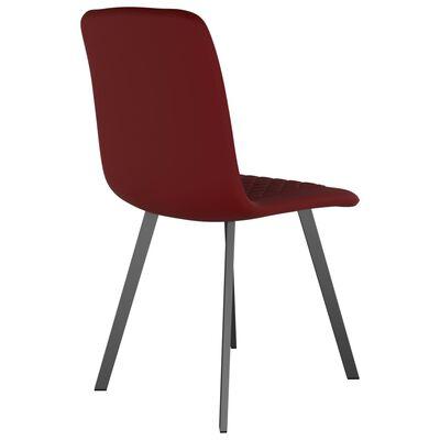 vidaXL Esszimmerstühle 4 Stk. Rot Samt
