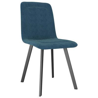 vidaXL Esszimmerstühle 4 Stk. Blau Samt
