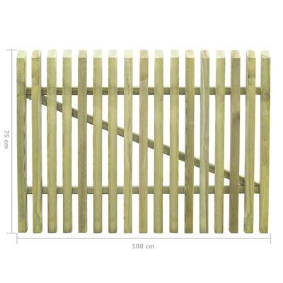 vidaXL Pfahl-Gartentor Imprägniertes Kiefernholz 100×75 cm