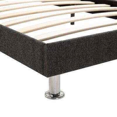 vidaXL Bett mit Matratze Dunkelgrau Stoff 180 x 200 cm