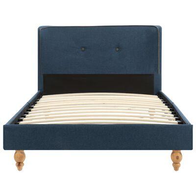 vidaXL Bett mit Memory-Schaum-Matratze Blau Stoff 90 x 200 cm