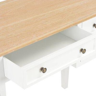 vidaXL Schreibtisch Weiß 109,5 x 45 x 77,5 cm Holz